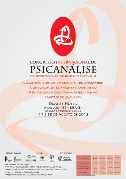Congresso Internazionale di Psicoanalisi – 17 e 18 Agosto 2012