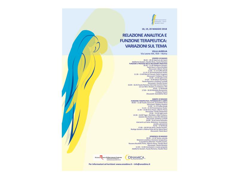 """Seminario """"Relazione Analitica e Funzione Terapeutica. Variazioni sul Tema."""" 18-20 maggio Roma."""